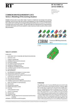 RT 10-11067 en, Common BIM Requirements 2012. Series 2. Modeling of the starting situation (Version 1.0, 2012)
