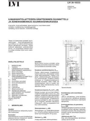 LVI 30-10333, Ilmanvaihtolaitteiden äänitekninen suunnittelu ja äänenvaimennus asuinrakennuksissa