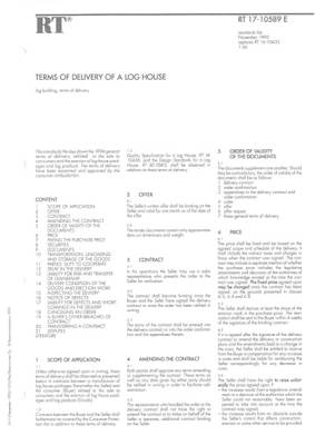 RT 17-10589 en, Terms of delivery of a log house