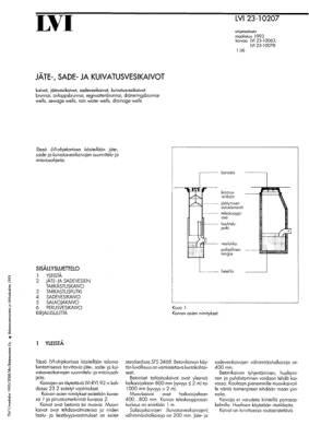 LVI 23-10207, Jäte-, sade- ja kuivatusvesikaivot
