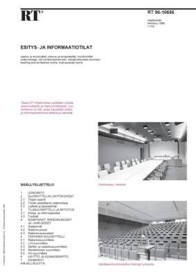 RT 96-10656, Esitys- ja informaatiotilat