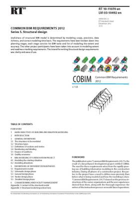 RT 10-11070 en, Common BIM Requirements 2012. Series 5. Structural design (Version 1.0, 2012)