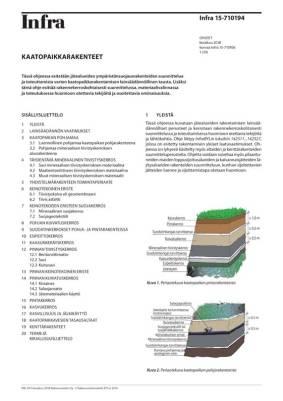 Infra 15-710194, Kaatopaikkarakenteet