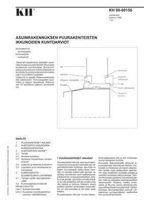 KH 90-00156, Asuinrakennuksen puurakenteisten ikkunoiden kuntoarviot