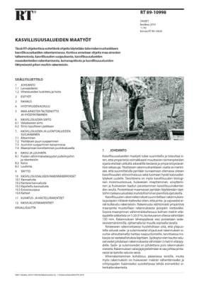 RT 89-10998, Kasvillisuusalueiden maatyöt