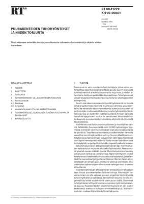RT 08-11229, Puurakenteiden tuhohyönteiset ja niiden torjunta