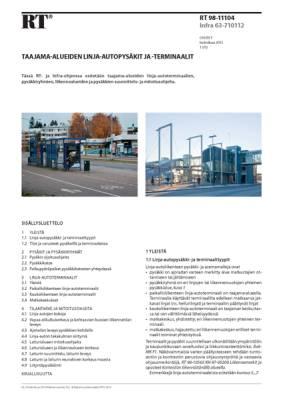 RT 98-11104, Taajama-alueiden linja-autopysäkit ja -terminaalit