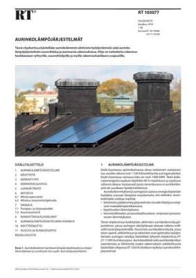RT 103077, Aurinkolämpöjärjestelmät