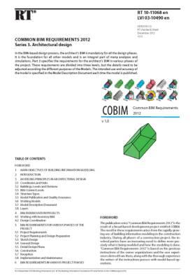 RT 10-11068 en, Common BIM Requirements 2012. Series 3. Architectural design (Version 1.0, 2012)
