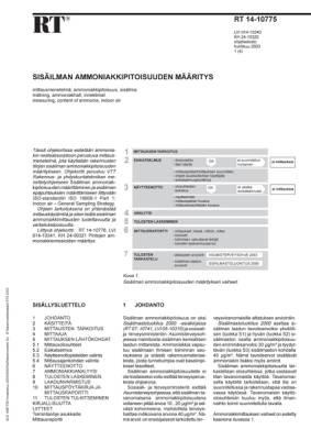 RT 14-10775, Sisäilman ammoniakkipitoisuuden määritys