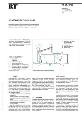 RT 05-10710, Kosteus rakennuksissa