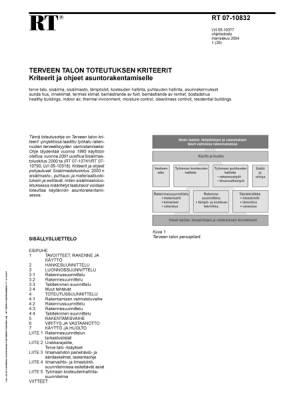 RT 07-10832, Terveen talon toteutuksen kriteerit. Kriteerit ja ohjeet asuntorakentamiselle