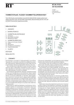 RT 95-11151, Toimistotilat, yleiset suunnitteluperusteet