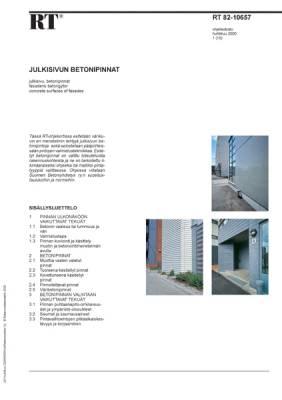 RT 82-10657, Julkisivun betonipinnat