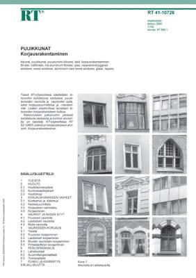 RT 41-10726, Puuikkunat. Korjausrakentaminen