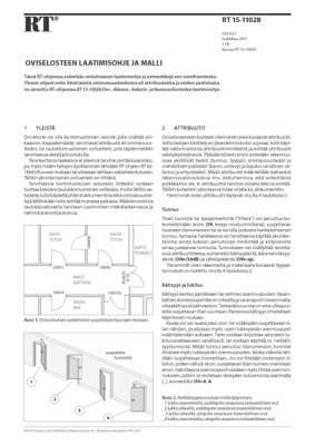 RT 15-11028, Oviselosteen laatimisohje ja malli