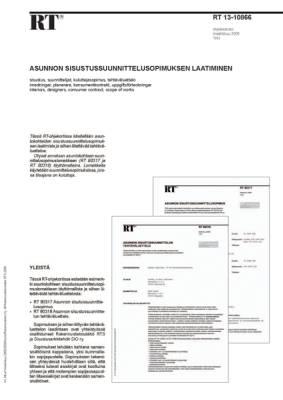 RT 13-10866, Asunnon sisustussuunnittelusopimuksen laatiminen