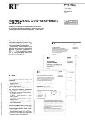 RT 10-10836, Pientalohankkeen suunnittelusopimusten laatiminen