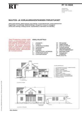 RT 15-10849, Muutos- ja korjausrakentamisen piirustukset