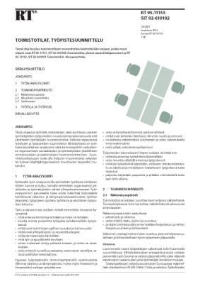 RT 95-11153, Toimistotilat, työpistesuunnittelu