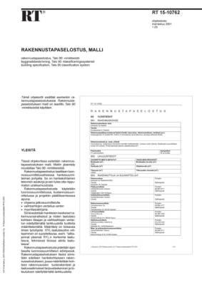 RT 15-10762, Rakennustapaselostus Talo 90 -nimikkeistö, malli