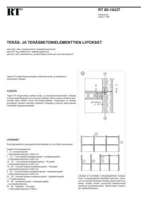 RT 80-10437, Teräs- ja teräsbetonielementtien liitokset