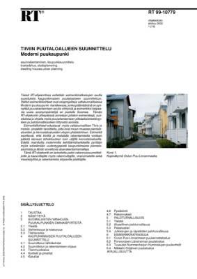RT 99-10779, Tiiviin puutaloalueen suunnittelu