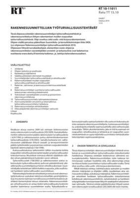 RT 10-11011, Rakennesuunnittelijan työturvallisuustehtävät