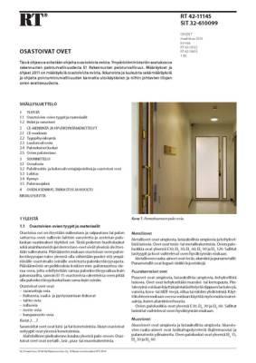 RT 42-11145, Osastoivat ovet