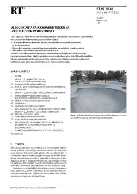 RT 97-11135, Ulkoliikuntapaikkarakenteiden ja -varusteiden perustukset