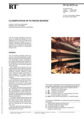 RT 22-10731 en, Classification of Plywood Boards