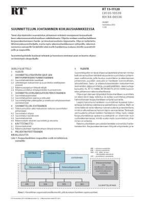 RT 13-11120, Suunnittelun johtaminen korjaushankkeessa