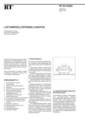 RT 84-10364, Lattianpäällysteiden luokitus