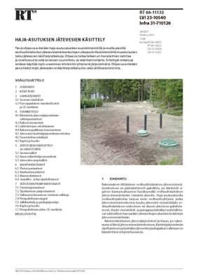 RT 66-11133, Haja-asutuksen jätevesien käsittely