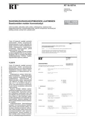 RT 16-10714, Rakennusurakkasopimuksen laatiminen. Saastuneiden maiden kunnostustyö. (YSE 1998 asiakirjamalli)