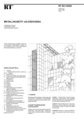 RT 82-10429, Metallikasetit julkisivuissa