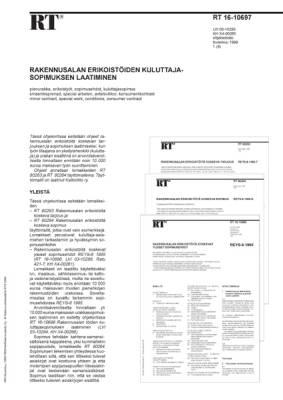 RT 16-10697, Rakennusalan erikoistöiden kuluttajasopimuksen laatiminen