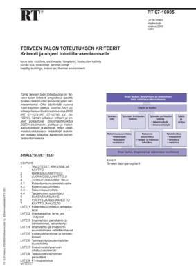RT 07-10805, Terveen talon toteutuksen kriteerit. Kriteerit ja ohjeet toimitilarakentamiselle