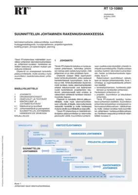 RT 13-10860, Suunnittelun johtaminen rakennushankkeessa