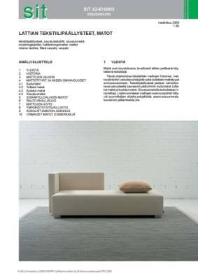 SIT 42-610003, Lattian tekstiilipäällysteet, matot