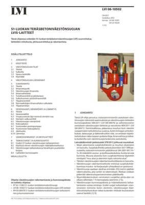 LVI 06-10502, S1-luokan teräsbetonisten väestönsuojien LVIS-laitteet