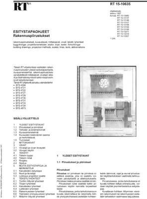RT 15-10635, Esitystapaohjeet. Rakennuspiirustukset