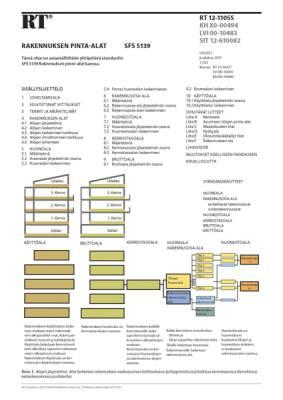 RT 12-11055, Rakennuksen pinta-alat. (SFS 5139:2011)
