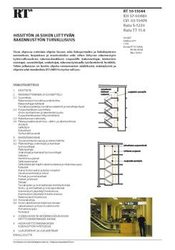 RT 10-11044, Hissityön ja siihen liittyvän rakennustyön turvallisuus