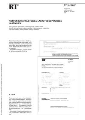 RT 16-10867, Pienten rakennustöiden laskutyösopimuksen laatiminen