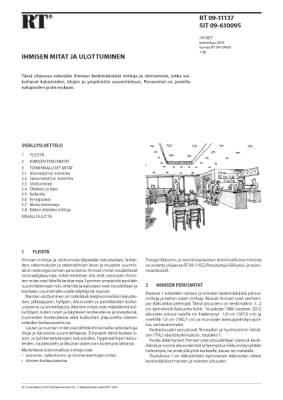 RT 09-11137, Ihmisen mitat ja ulottuminen