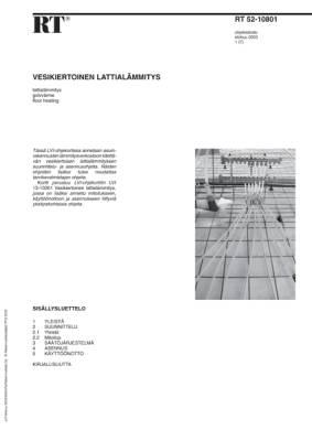 RT 52-10801, Vesikiertoinen lattialämmitys