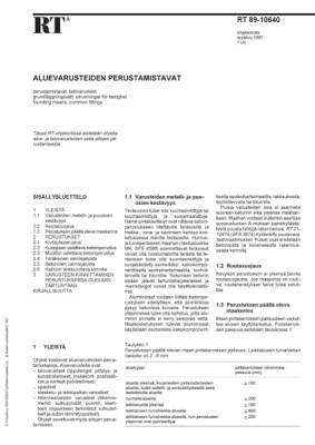 RT 89-10640, Aluevarusteiden perustamistavat