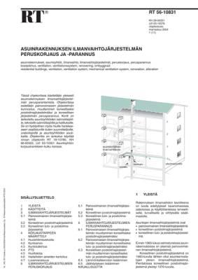 RT 56-10831, Asuinrakennuksen ilmanvaihtojärjestelmän peruskorjaus ja -parannus