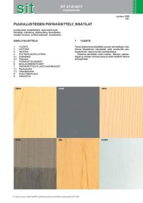 SIT 47-610017, Puukalusteiden pintakäsittely, sisätilat